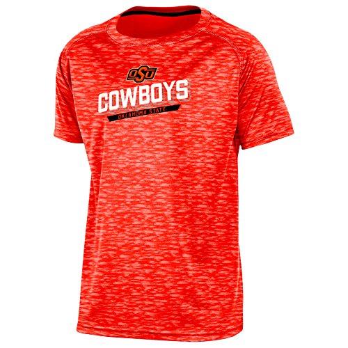 Champion (CHAFK) NCAA Oklahoma State Cowboys Youth Boys Short Sleeve Crew Neck RA Tee, Large, Orange ()