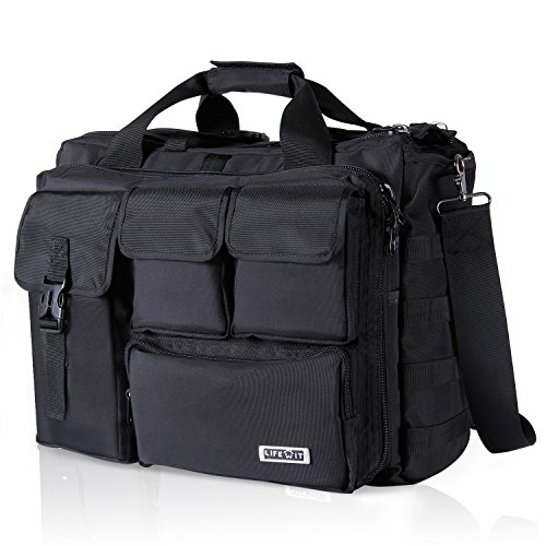 "Lifewit 17.3"" Men's Military Laptop Messenger Bag Multifunction Tactical Briefcase Computer Shoulder"