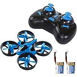 SGILE Mini Drone RC UFO Quadcopter Nano for Kids Birthday Gift Present with 2 Free Batteries, 360° Flip One Key Return Rotation Recover Balance Headless Mode