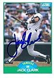 Autograph Warehouse 43746 Jack Clark Autographed Baseball Card New York Yankees 1989 Score No .25