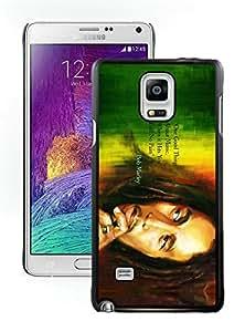 DIY Bob Marley 3 Black Samsung Galaxy Note 4 Screen Cellphone Case Beautiful and Luxurious Look