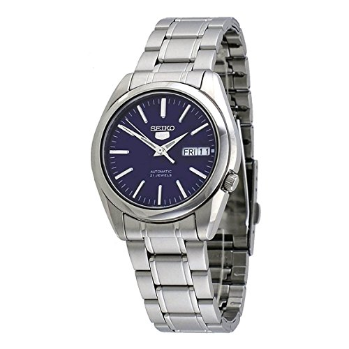 Seiko 5 #SNKL43 Men's Stainless Steel Blue Dial Self Winding Automatic Watch -