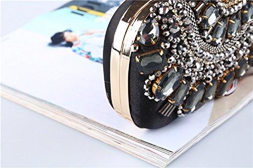 Cerimonia H Da Bag Matrimonio Da Partito Nozze Donna Borsetta Diamante Sera Per Con Catena Elegante Festa Borsetta Pochette Slay nUxR4n