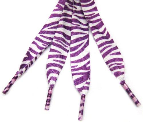 White Purple Zebra Fashion Shoelace product image