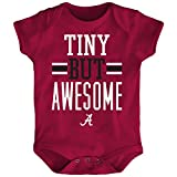 Outerstuff NCAA Alabama Crimson Tide Newborn & Infant Tiny But Awesome Bodysuit, Dark Red, 24 Months