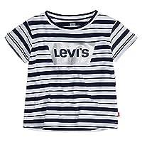 Levi's Girls Batwing T-Shirt, Indigo Stripe, 2T