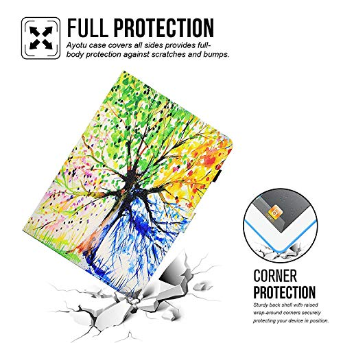 Auto Case Wallet iPad Protection Sleep 1 iPad Air Stand Dteck 2 Generation Slim Corner Cover Apple 6th New 2018 iPad Case 7 9 Tree Leather Colorful Swing G 5th for Folio Purple Wake Smart 2 2017 Air 1 PU iPad vqRwYgq