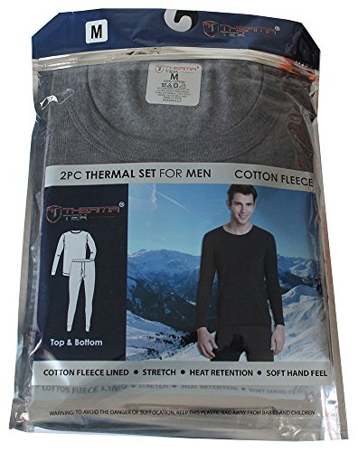 therma-tek-formerly-comfort-fit-mens-winter-thermal-cotton-fleece-top-bottom-2-pcs-set-gray-m
