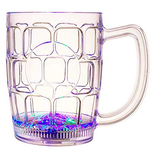 - Flashing Panda 16 oz LED Light-Up Multi-Color Flashing Beer Mug