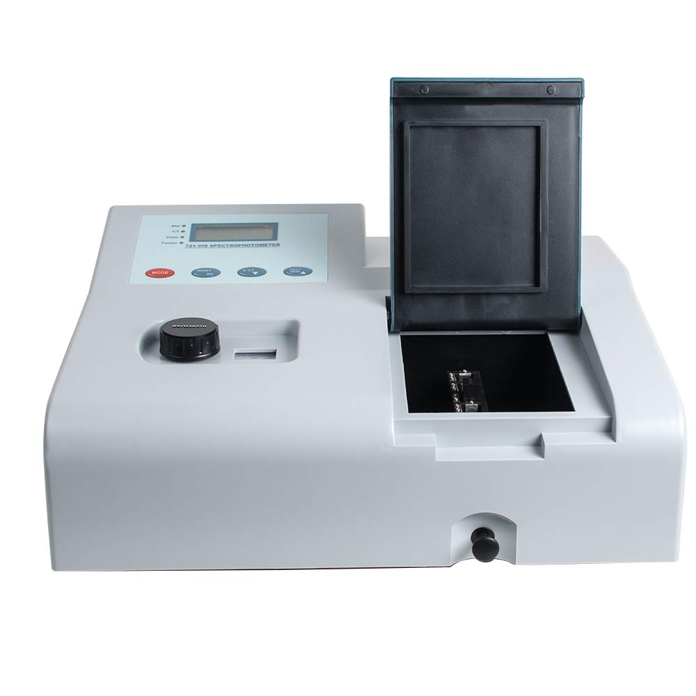 Vinmax UV Visible Spectrophotometer 721 LDC Digital Lab Visible UV Spectrophotometer 350-1020nm Lab Equipment (Shipping from US)