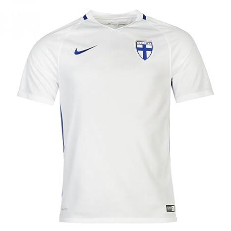 Nike Fin YTH SS Hm Stadium JSY - Camiseta para niño, Color Blanco/Azul