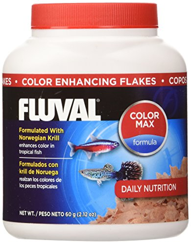 - 60gm Fluval Color Enhancing Flakes Fish Food, 2.12-Ounce