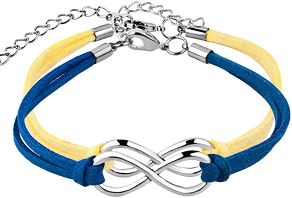 CLY Jewelry 2pc/4pc Handmade Wristband Rope Matching Friendship Multi Color Leather Infinity Bracelet
