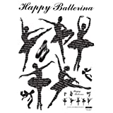Reusable Decoration Wall Sticker Decal – Ballerinas, Baby & Kids Zone