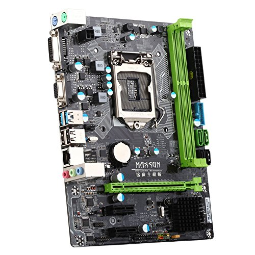 KKmoon MAXSUN MS-B85DL Desktop Computer Mainboard Motherboard System Board Turbo for Intel B85 LGA 1150 Socket SATA 6Gb/s USB 3.0 Games DDR3 mATX Main Circuit Base Board by KKmoon