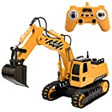 Remote Control Excavator Truck , 2.4G Crawler Full-Function Construction Vehicles Rechargeable Tractor Digger Engineer Machine, Kid's Early Education Hobby Toys Indoor and Outdoor