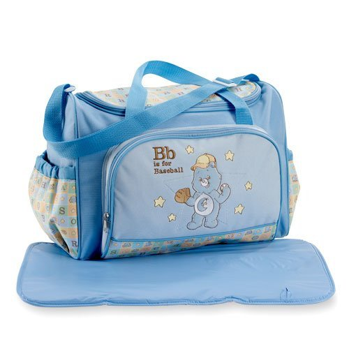Care Bears Large Blue Diaper Bag groß 2 Piece Satz mit Changing Pad New