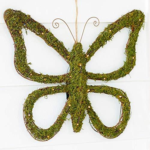BrylaneHome Pre-Lit Grass Butterfly - Green