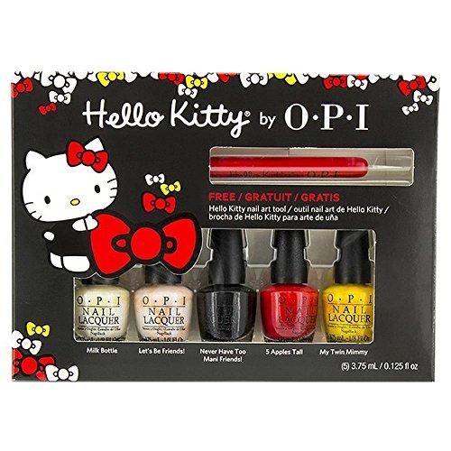 Mini Hello Kitty Nail Polish Lacquer 1 Set 5 x 1/8oz + Nail Art Tool!!