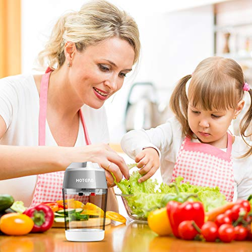 HOTERB Spiralschneider Gemüse,4 in 1 Gemüseschneider Mit Behälter Gemüse Spiralschneider,Gemüsehobel für Karotte,Zucchini Spaghetti,Gurke,Kartoffel,Kürbis,Zwiebel