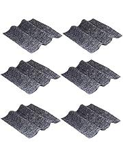 6 peças de pano removedor de arranhões para carro da VICASKY, pano para remoção de arranhões, polimento de superfície, Nano Repair Pano de limpeza de carro para reparo de carro cinza