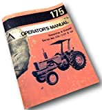 Allis Chalmers 175 Tractor Operators Owners Manual Gas Gasoline Diesel
