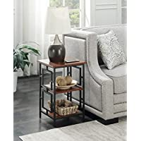 Convenience Concepts Town Square Metal End Table, Cherry / Black