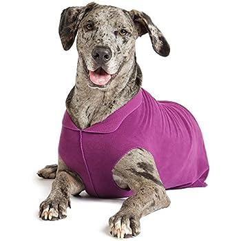 Amazon.com : Gold Paw Stretch Fleece Dog Coat - Marine Blue Size ...