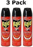 Raid Ant and Roach Killer Spray, Outdoor Fresh Scent, 17.5 Ounce (3 Pack)
