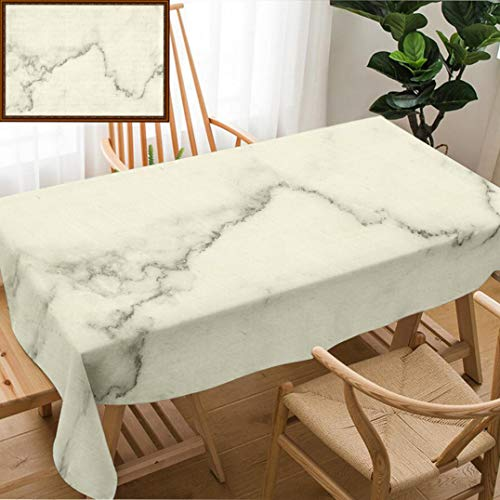 Unique Custom Design Cotton and Linen Blend Tablecloth Natural White Marble Texture for Skin Tile Wallpaper Luxurious Background Picture High ResolutionTablecovers for Rectangle Tables, 60