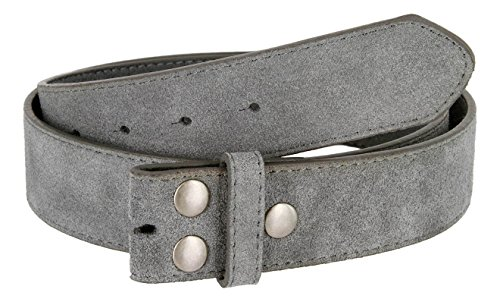 [Suede Leather Casual Jean Belt Strap for Men (Gray, 34)] (Suede Leather Belt Strap)