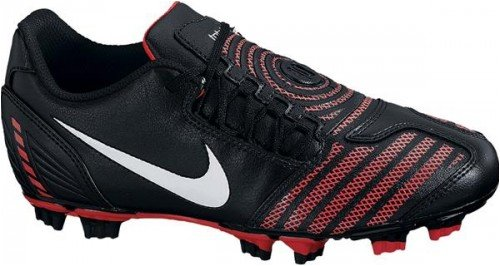 Shoot Fg Mens Soccer Shoe - Nike JR Total90 Shoot II FG Black/Red