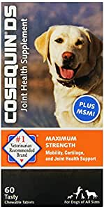 nutramax cosequin ds chewables plus msm 60ct pet bone and join. Black Bedroom Furniture Sets. Home Design Ideas