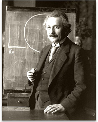 - Albert Einstein Lecturing In Vienna, 1921-11x14 Unframed Art Print - Perfect Classroom and Lab Decor or Great Gift Under $15 for Scientists and Geeks