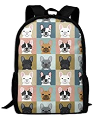 French Bulldog Pattern-02 Interest Print Custom Unique Casual Backpack School Bag Travel Daypack Gift