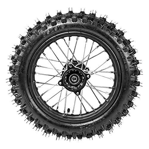 ZXTDR Rear 80/100-12 Tire Disc Brake Wheel Rim With 12mm Bearing for Pit Pro Dirt Bike
