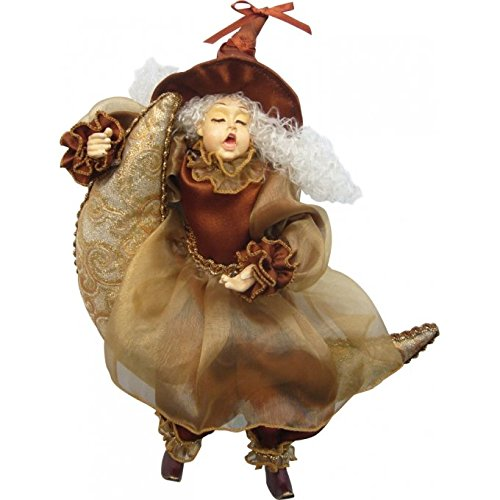 Witches of Pendle - Moon Dreamer Witch Hanging (Brown & Gold) 27cm