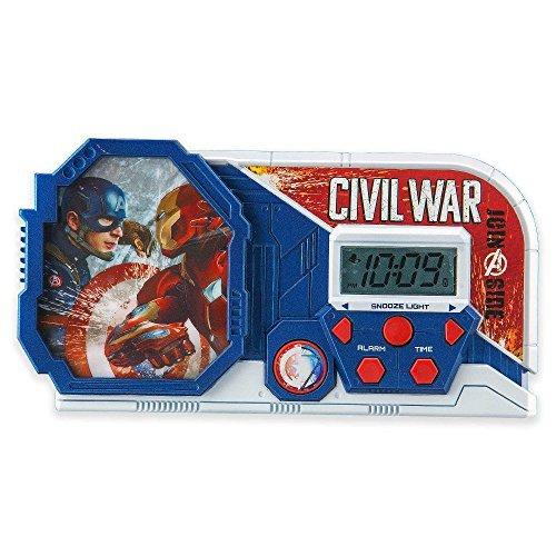 Marvel Captain America Civil War Alarm Clock/Sleep Timer with Night Light