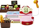 KONGSUNI Series Cash Register for Kids With Sounds Scanner Toy Food Set Develop Calculation Skills And Supermarket Play Shopping Playset, Toy Cashier, Toy Cash register