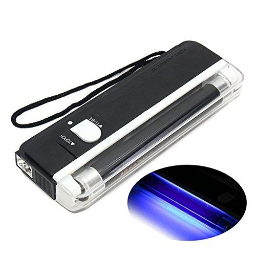Hitommy 4W Mini Portable UV Light Ultraviolet Black Money Detector Bank Notes Check Torch Flashlight
