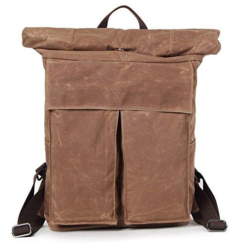 mefly viajes hombres de mochila ocio Simple impermeable Super gran capacidad, azul marino naranja