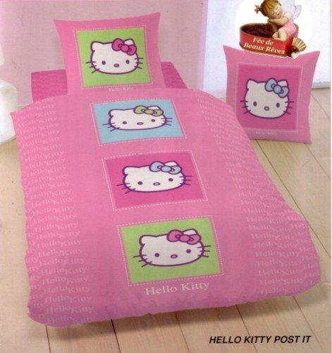 Juego de cama funda de edredón de Hello Kitty POST-IT 140 x ...