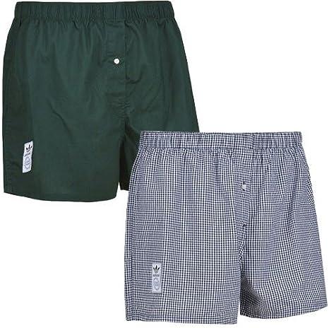 adidas Originals 2 Pack para Hombre algodón Boxer Pantalones Cortos Ropa Interior m30588: Amazon.es: Deportes y aire libre