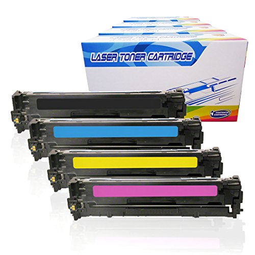 Inktoneram Compatible Toner Cartridges Replacement for HP 128A CE320A CE321A CE322A CE323A LaserJet Pro CP1525n CP1525nw CM1415 CM1415fnw CM1415fnw MFP ([Black,Cyan,Magenta,Yellow], 4-Pack)