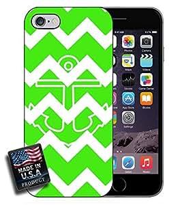 linJUN FENGColorful Green Chevron Anchor iPhone 6 Hard Case