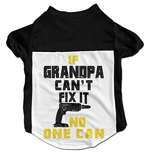 Richard Lyons Fashion Sleeveless Pet Supplies Dog Cat Clothes If Grandpa Can't Fix It No-one Can Pet Apparel Clothing S Black Lyon One Frame
