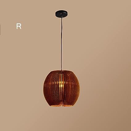 JZX Lámpara de techo de la sala de estar, restaurante retro ...
