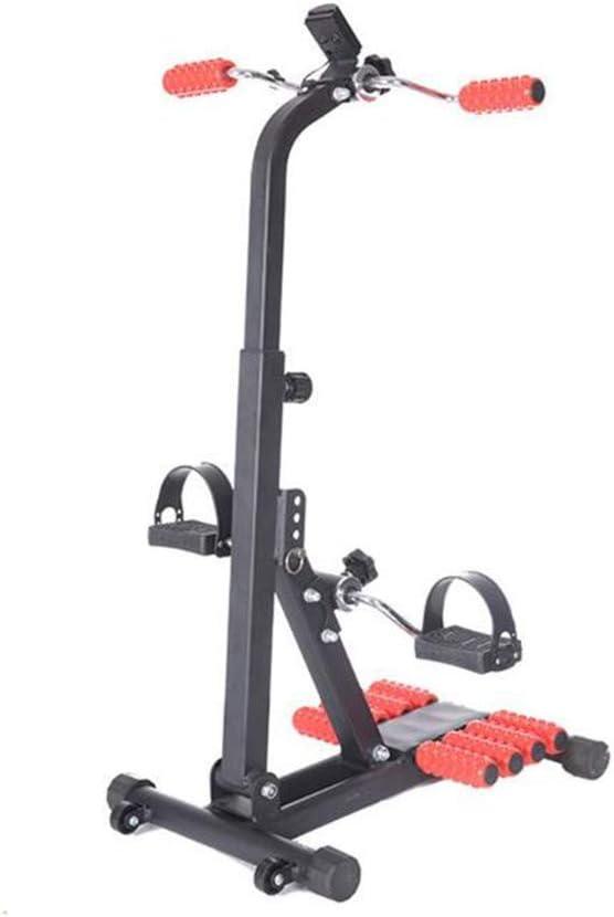 TIEHH Ejercitador de Pedal Cubierta Fitness Bicicletas Pantalla LCD ejercitador de Pedal Ajustable, Terapia física Máquina de Mano y pie con Rodillos de Masaje para el Brazo, Las piernas, Física
