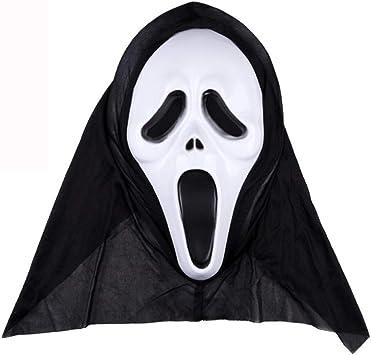 axiba Scary Halloween Mask Adultos Creepy Halloween Cosplay ...