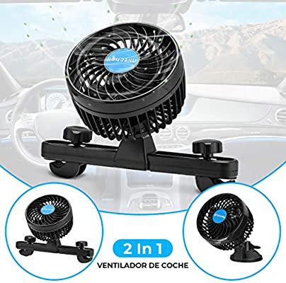 Amazon.es: Ventilador Coche Mechero Portatil Electrico Silencioso ...